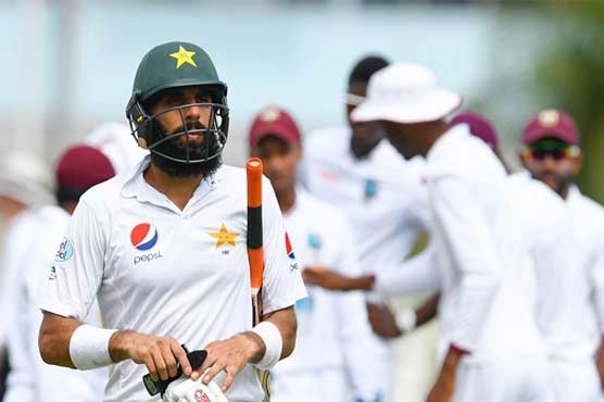 Pakistani players get out on 99